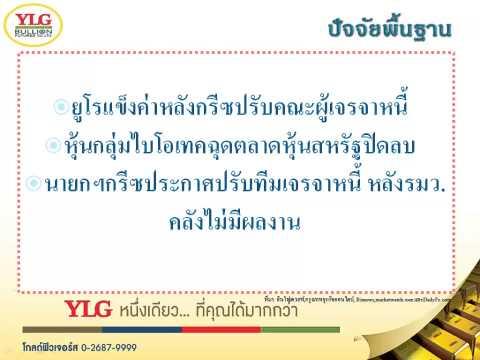 YLG บทวิเคราะห์ราคาทองคำประจำวัน 28-04-15
