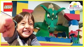LEGOLAND HOTEL TOUR! Amusement Park Family Fun Lego Toys for Kids play Area Children Activities