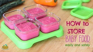 How To Safely Store Baby Food