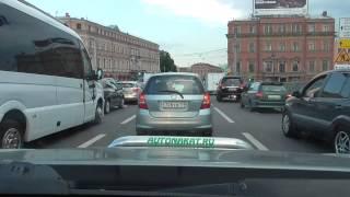 1 Урок автовождения без подготовки в городе  .