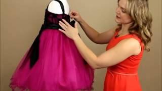 My Girl Dress.com | Dress Review: Black Satin Trim & Embroidered Flower Girl Dress