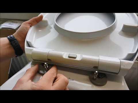 Toilettensitz montieren auch mit Absenkautomatik