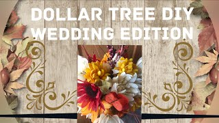 Dollar Tree DIY - How To Make An Inexpensive Bridal Bouquet