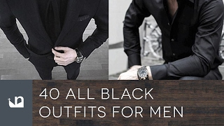 40 All Black Outfits For Men
