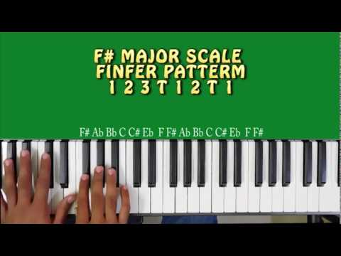Download HOW TO PLAY F# MAJOR SCALE ON PIANO OR KEYBOARD HD Mp4 3GP Video and MP3