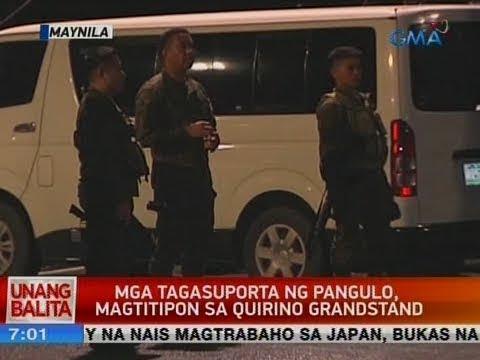 [GMA]  UB: Mga tagasuporta ng pangulo, magtitipon sa Quirino Grandstand