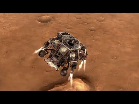 Perseverance se landing op Mars