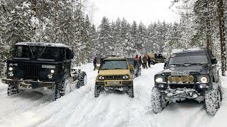 Так ли хорош ГАЗ--66?)) OffRoadSPB грязнет в снегу...