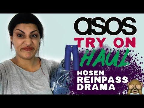ASOS - Try On Haul Nervenzusammenbruch Drama - Quadratarsch - Mom Jeans  - Reinpass Drama