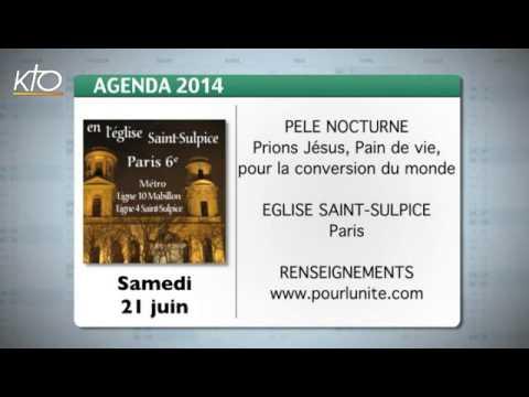 Agenda du 13 juin 2014