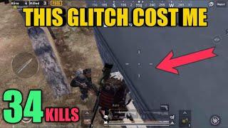 This Glitch Cost Me 34 Kills   Crown Solo Vs Squad   PUBG Mobile