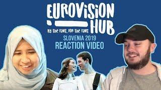 Slovenia   Eurovision 2019 Reaction Video   Zala Kralj & Gašper Šantl - Sebi