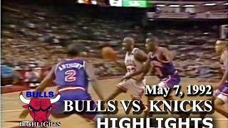 May 7, 1992 Bulls Vs Knicks Game 2 Highlights