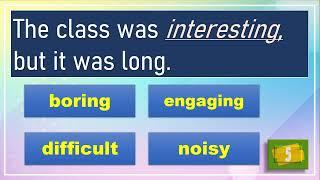 Synonym Quiz for Elementary Level