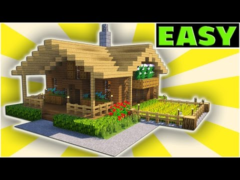 Minecraft starter house tutorial easy how to build a for How to start building a house