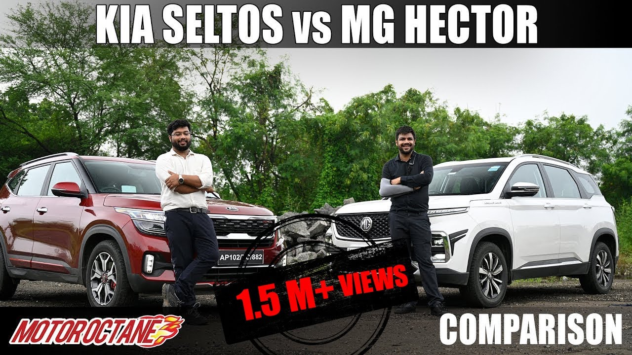 Motoroctane Youtube Video - Kia Seltos vs MG Hector Comparison | Hindi | MotorOctane