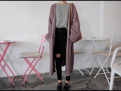 Harajuku Lange Strickjacke Damen 2018 Frühling Mode Lange Stricken Pullover Frauen