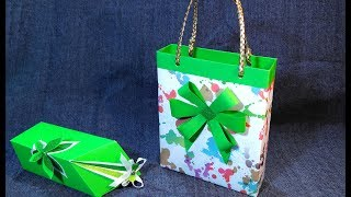 DIY 🐾 Gift Bag Out Of Cereal Box. Gift Wrapping Ideas.