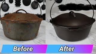 Cast Iron Dutch Oven Restoration