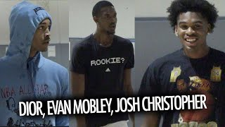 Dior Johnson, Josh Christopher, And Evan Mobley WENT OFF At Mike C. Ballislife Run!