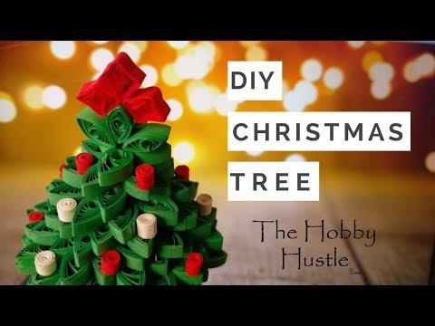 Diy 3d Quilling Christmas Tree Mini Xmas Tree Tutorial The Hobby