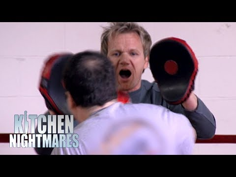 Gordon Ramsay Boxing a Clueless Restaurant Owner | Kitchen Nightmares