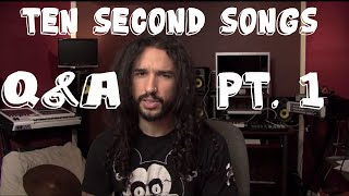 Ten Second Songs - Q&A Pt. 1 | Anthony Vincent Music
