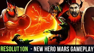 Resolut1on NEW HERO MARS - First Pro Gameplay - THIS IS SPARTA! Dota 2