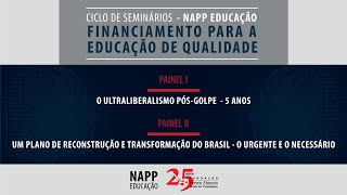 #aovivo | Financiamento para a educação de qualidade | Ciclo de Seminários – NAPP Educação