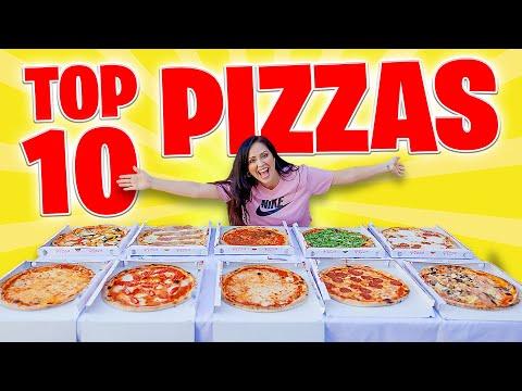 TOP 10 PIZZAS 🔥 COMPRO TODO EL MENÚ! 😱 Cuál es la Pizza Más Rica? 😜 Probando Pizzas Sandra Cires Art
