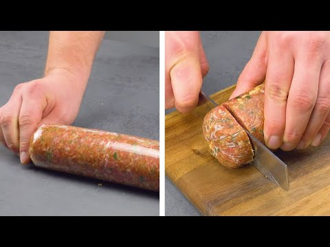 Freeze This Ground Beef Roll For Extra Juicy Sliders!