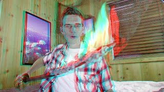 3D Video Extreme SCARY FIRE SWORD 2!!!