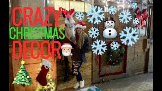 Decorating My Horses Stall For Christmas!