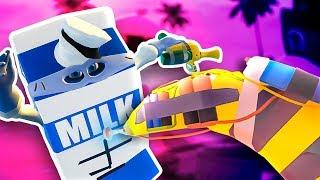 MILK MAN SHOT BY GIANT BANANA GUN - Slightly Heroes VR Gameplay - HTC Vive Pro Gameplay