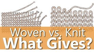 Knit Vs. Woven Fabric - What's the diff?