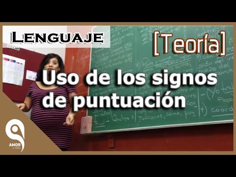 Lenguaje -   Uso de los signos de puntuación