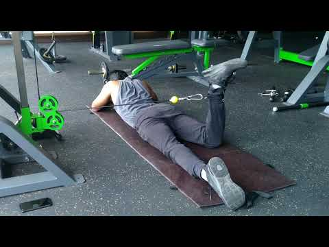 Cable Lying Hip Internal Rotation