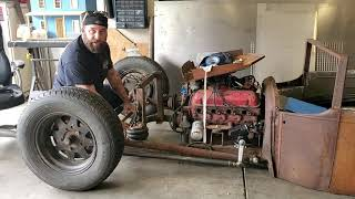OLD FORD TRUCKS, HOT RODS, RAT RODS,  ENGINE DISASSEMBLY,  CORVAIR GEAR BOX,  BAGGED, CHOPPED,