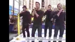 98 Degrees on The Today Show *Intro/Invisible Man* 8/17/12