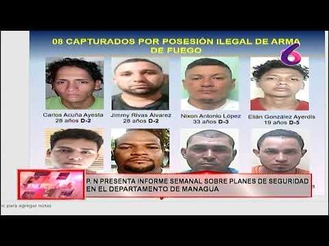 P.N presenta informe semanal sobre planes de seguridad en el departamento de Managua