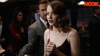 Ryan Gosling Photobombing Emma Stone  La La Land  FULL INTERVIEW