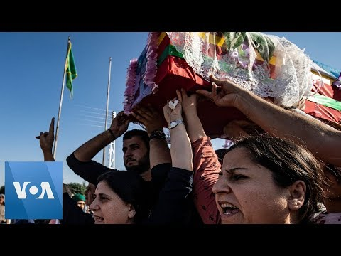 Kurdish Funeral for Civilians Killed During Turkish Assault