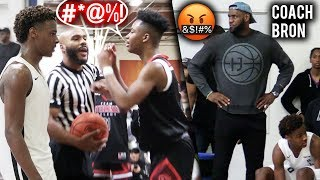 Bronny James Puts TEAM On HIS BACK In HEATED CHAMPIONSHIP Game! Coach LeBron!
