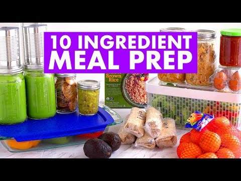 Video $35 & 10 INGREDIENT Meal Prep for the Week CHALLENGE! - Mind Over Munch