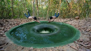 Building The Most Mysterous Deep Hole Underground Swimming Pool