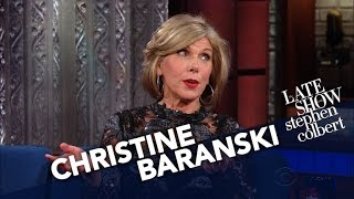 Christine Baranskis Easiest Role Ever? Acting Displeased With Trump.