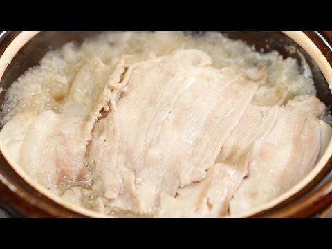 Yuki-nabe (Grated Daikon and Pork Hot Pot Recipe) | Cooking with Dog