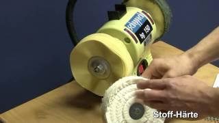 Schwabbelscheibe zum Abziehen und Polieren von Schnitzwerkzeugen HD