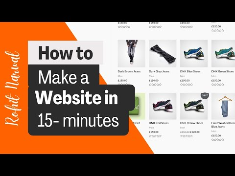 Create an ecommerce WordPress website in 15 minutes | Elementor 2021