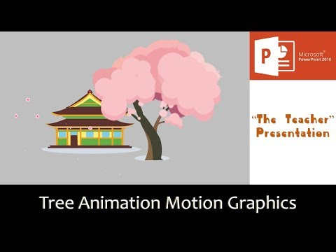 Cherry Blossom Tree Animation Motion Graphics Di PowerPoint 2016 Tutorial | The Teacher Mp3